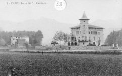 Olot. Torre del senyor Caminals, 1917 (ACGAX. Fons: Col·lecció d'imatges de Josep M. Dou Camps)