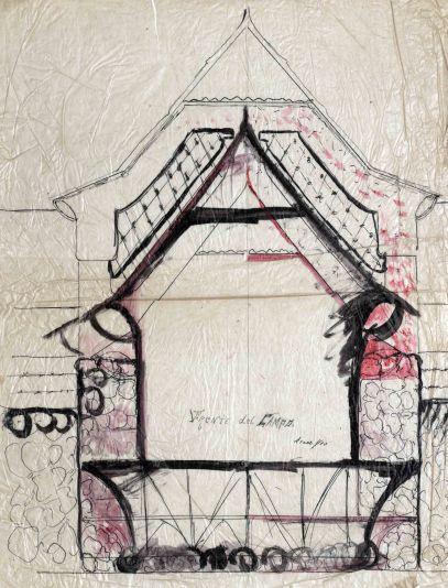 Projecte del quiosc de begudes del camp de futbol de l'Olot, 1928