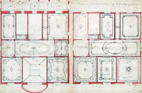 Proposta decorativa dels sostres de les dues plantes de la casa Juncosa, 1920