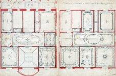 Proposta decorativa de la casa Juncosa amb anotació dels sostres aprovats, 1920