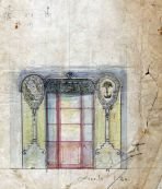Esbós de la façana de la xocolateria Pi, 1917