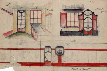 Projecte de reforma de la carnisseria de Rafel Boada, a Olot, 1916