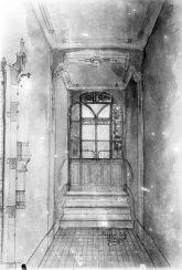 Reproducció del projecte del vestíbul de la casa Ricart, 1913