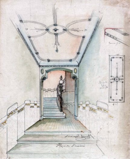 Projecte de disseny del vestíbul de la casa Riera, 1913