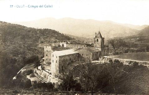Vista general del santuari del Collell, 1910 (ACGAX. Fons Catàleg de la postal olotina. Autor: Andrés Fabert)
