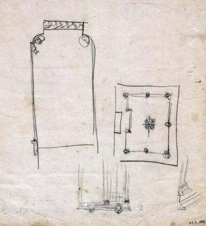 Esbós del projecte decoratiu d'un passadís de la casa Riera, 1913