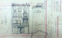 Esbossos de la façana de la casa Ricart, 1913