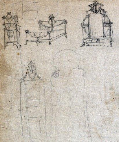 Esbossos de mobles per a la casa Ricart, 1913