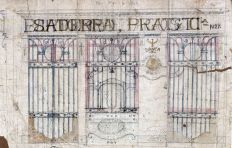 Projecte de la façana de la ferreteria Bartomeu Agustí, 1919