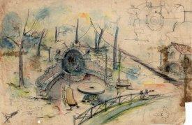 Esbós del projecte de la font del mas Soler, a la Cellera de Ter, 1918