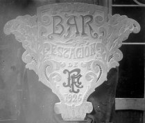 Rètol «Bar Estación de R.F.», 1926 (ACGAX. Fons Sadurní Brunet Pi. Autor: Sadurní Brunet)