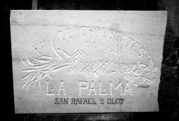 Rètol «Fábrica de chocolates La Palma», 1922 (ACGAX. Fons Sadurní Brunet Pi. Autor: Sadurní Brunet)
