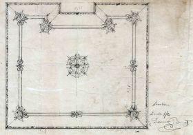Proposta decorativa del sostre del menjador de la casa Juncosa, 1920