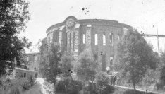 Vista parcial del santuari del Collell, 1927 (ACGAX. Fons Col·lecció d'Imatges de Josep M. Dou Camps. Autor desconegut)