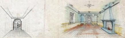 Projecte de reforma d'un interior sense identificar, entre els anys 1910 i 1922
