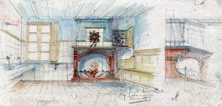 Projecte de reforma d'una cuina sense identificar, entre els anys 1910 i 1922
