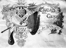 Proposta de cartell de Fires de Sant Narcís, de Girona, c. 1930