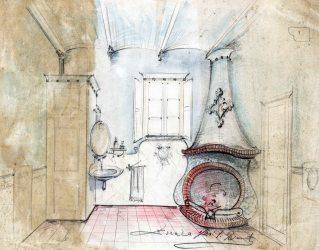 Projecte d'una xemeneia cantonera i un rentamans sense identificar, entre els anys 1913 i 1922