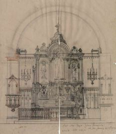 Projecte de l'altar major de l'església de Sant Jaume de Llierca, 1949