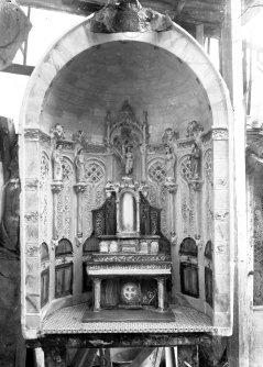 Maqueta del projecte per a l'altar major de l'església de Santa Eulàlia, a Begudà,1918 (ACGAX. Fons Sadurní Brunet Pi. Autor: Sadurní Brunet)