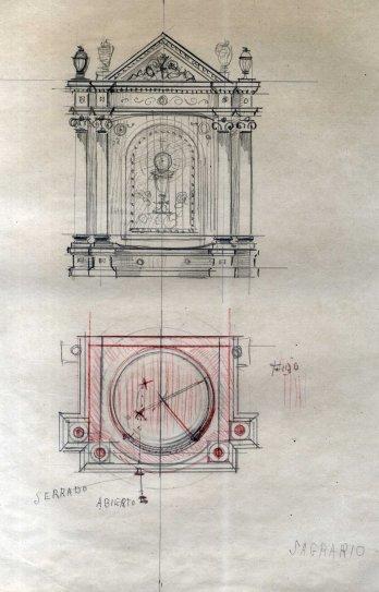 Projecte de sagrari per a l'església de Sant Vicenç, a Llançà, 1941