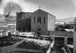 Església i convent de la Divina Providència, al carrer de Tomàs de Lorenzana, a Olot, 1925 (ACGAX. Fons Sadurní Brunet Pi. Foto: Sadurní Brunet)