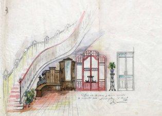Esbós de diferents elements del mobiliari de l'Hotel del Parc, 1917