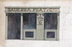 Projecte de la façana de la banca Saderra, Prat y Compañía al carrer de Sant Esteve, 27, d'Olot, 1915 (plànol atribuït a l'arquitecte Rafel Masó)