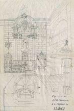 Projecte d'altar major de l'església de Sant Vicenç, a Llançà, 1941