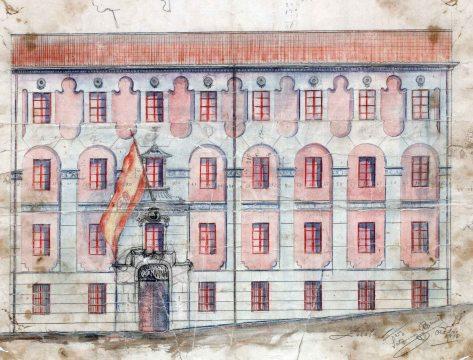 Projecte per a la façana de la caserna de la Guàrdia Civil, 1916