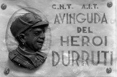 Esbós de la placa de l'avinguda de Bonaventura Durruti, 1938 (ACGAX. Fons Sadurní Brunet Pi. Autor: Sadurní Brunet)