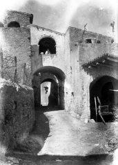 Vista parcial del carrer Figueres, a Sant Mori, 1946 (ACGAX. Fons Sadurní Brunet Pi. Autor: Sadurní Brunet)