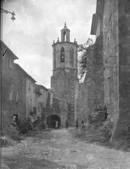 Vista parcial del poble de Sant Mori, 1946 (ACGAX. Fons Sadurní Brunet Pi. Autor: Sadurní Brunet)