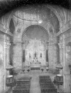 Vista general de l'església de Santa Eulàlia de Noves, a Garriguella, 1941 (ACGAX. Fons Sadurní Brunet Pi. Autor: Sadurní Brunet)