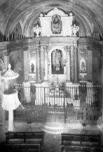 Vista zenital de l'altar major de l'església de Sant Vicenç, a Llançà, 1941 (ACGAX. Fons Sadurní Brunet Pi. Autor: Sadurní Brunet)