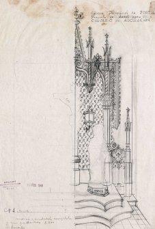 Projecte del dosser de l'altar del Calvari de l'església de Sant Julià, a Fortià, 1948