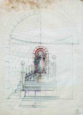 Projecte per completar l'altar major de l'església de Sant Salvador, a la Vall de Bianya, entre els anys 1944 i 1948