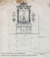 Projecte per completar l'altar del Sant Crist a l'església de Sant Martí de Capsec, a la Vall de Bianya, 1948