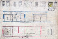 Plànol i detalls del mobiliari d'una casa sense identificar, entre 1913 i 1920