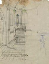 Projecte per completar l'altar del Sagrat Cor de l'església de Sant Martí de Capsec, a la Vall de Bianya, 1944