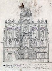 Projecte de l'altar major a l'església de Santa Eulàlia, a Begudà, 1947