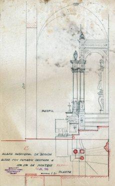 Projecte del cambril de Nostra Senyora de Mont-ros a Santa Eulàlia, a Begudà, 1945