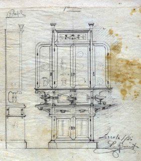 Esbós d'un armari, entre 1912 i 1920
