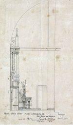 Perfil del projecte de l'altar major de l'església de Sant Jaume de Llierca, 1949