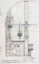 Perfil del projecte de l'altar major de Sant Jaume de Llierca, 1948