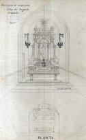 Esbós de l'altar del Sagrat Cor de l'església del Sagrat Cor de Santa Eulàlia de Noves, a Garriguella, 1941