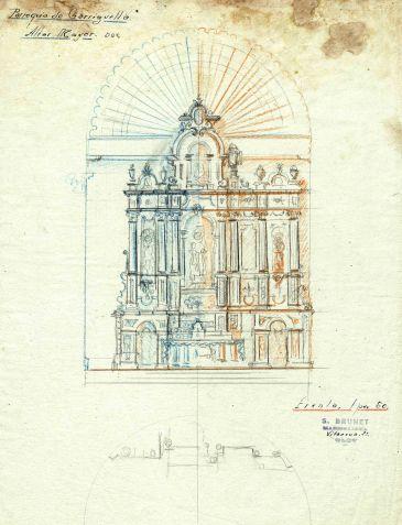 Projecte de l'altar major de l'església de Santa Eulàlia de Noves a Garriguella, 1941