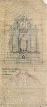 Projecte de l'altar major de l'església de Santa Eulàlia de Noves, a Garriguella, 1941