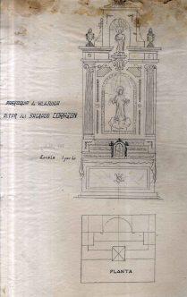 Projecte d'altar del Sagrat Cor de l'església de Sant Feliu, a Vilajuïga, 1941