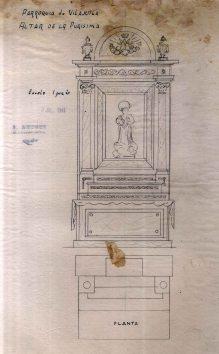 Projecte d'altar de la Puríssima de l'església de Sant Feliu, a Vilajuïga, 1941